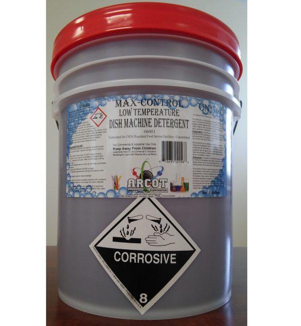 6001 Max-Control LT Dish Machine Detergent 5-gal pail – 20171006 for website